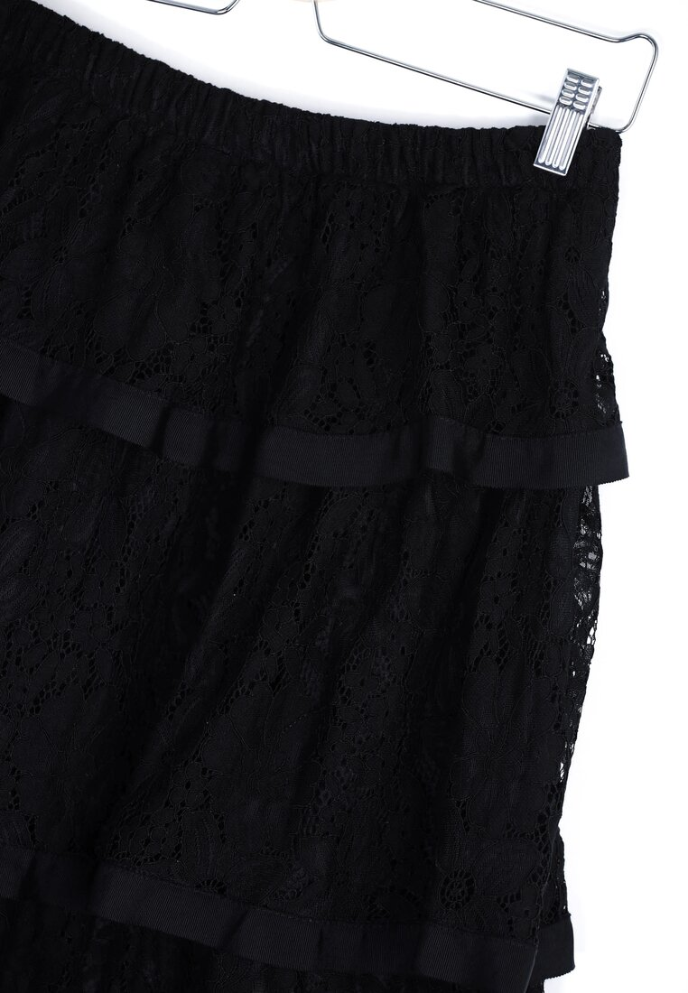 Czarna Spódnica Triple Frill