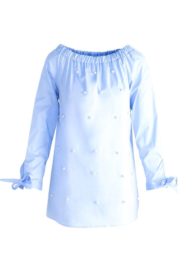 Niebieska Bluzka All In Pearls