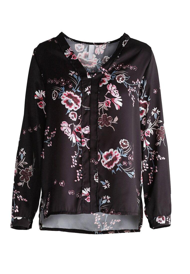 Czarna Koszula Cherry Blossom