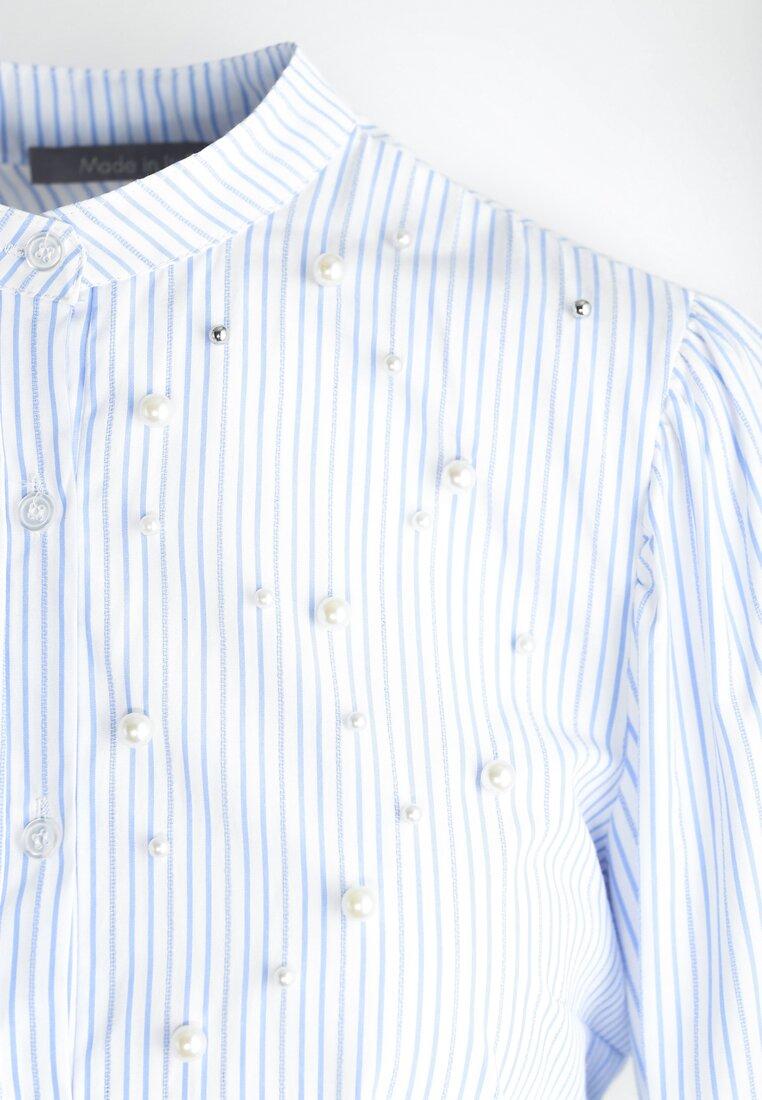Niebieska Koszula Crystals And Stripes