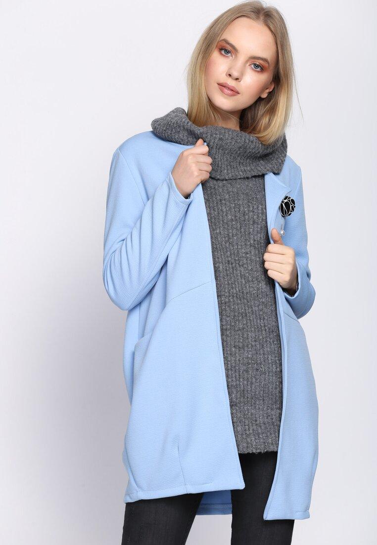 Niebieski Płaszcz Pearl Brooch
