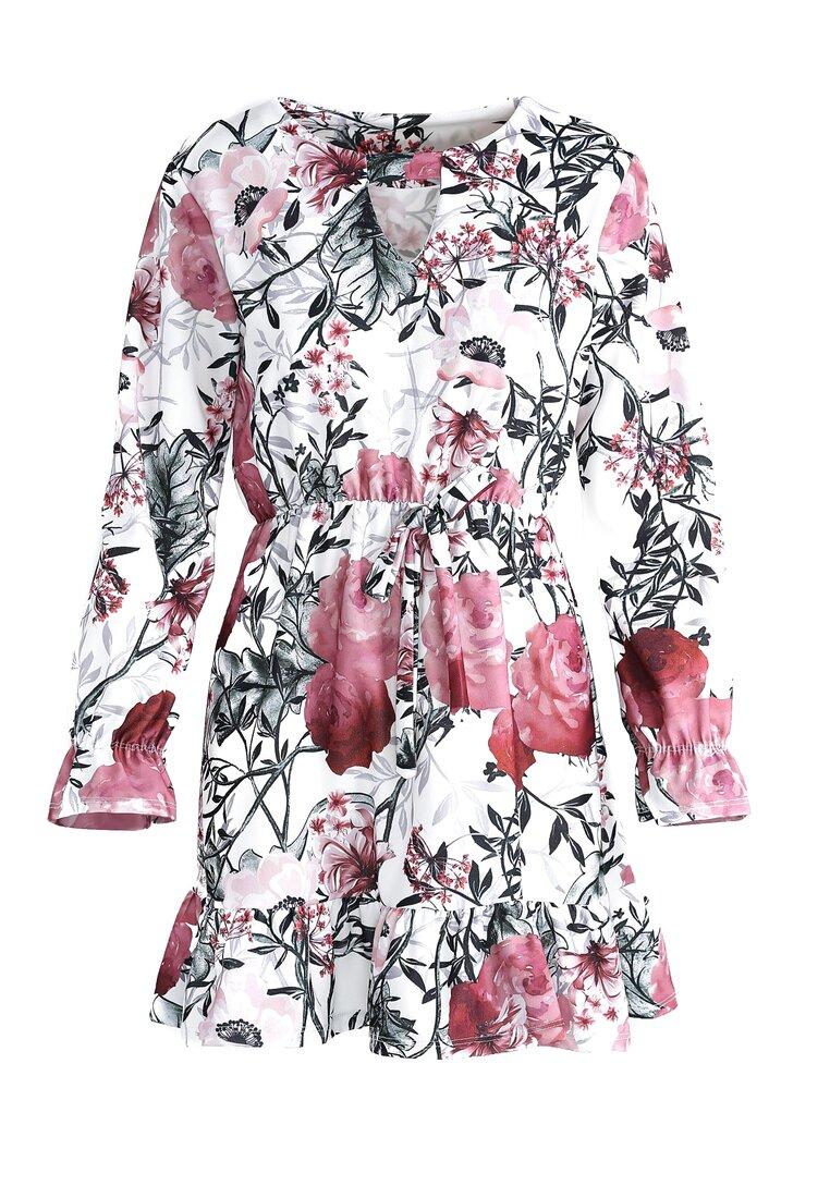 Biało-Bordowa Sukienka All You Need It