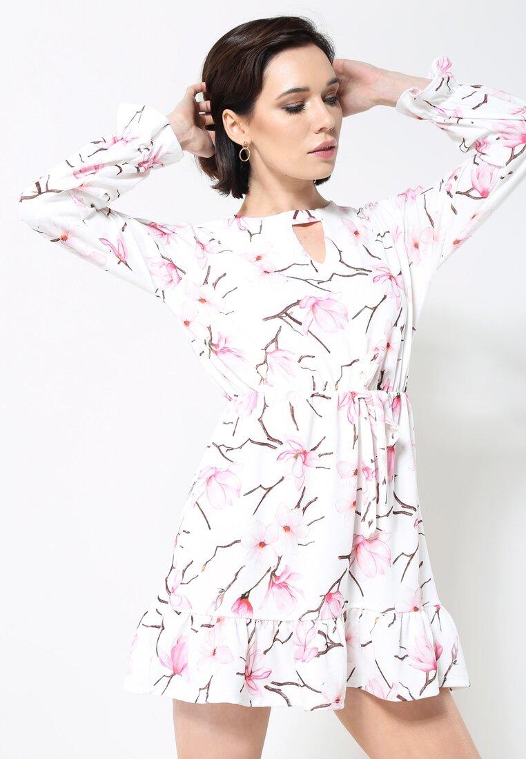 Biało-Różowa Sukienka Good Direction
