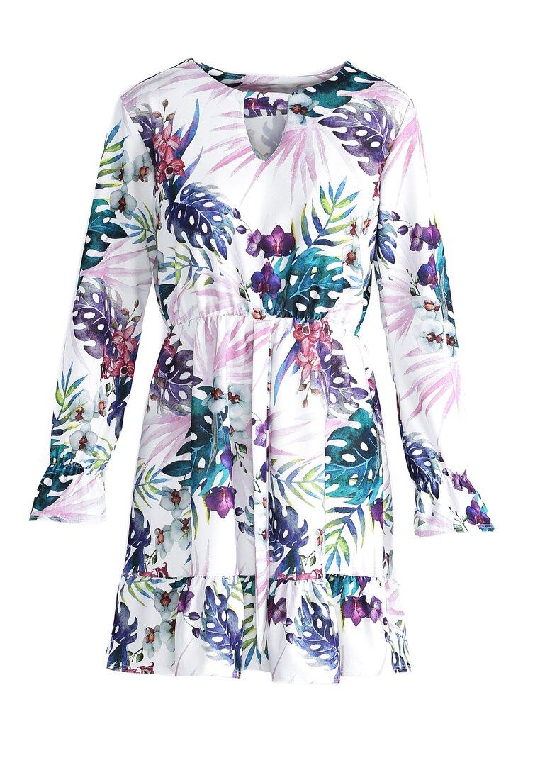 Biało-Fioletowa Sukienka Good Direction
