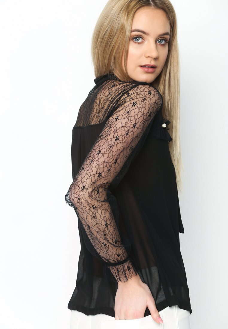 Czarna Bluzka Female Romantic