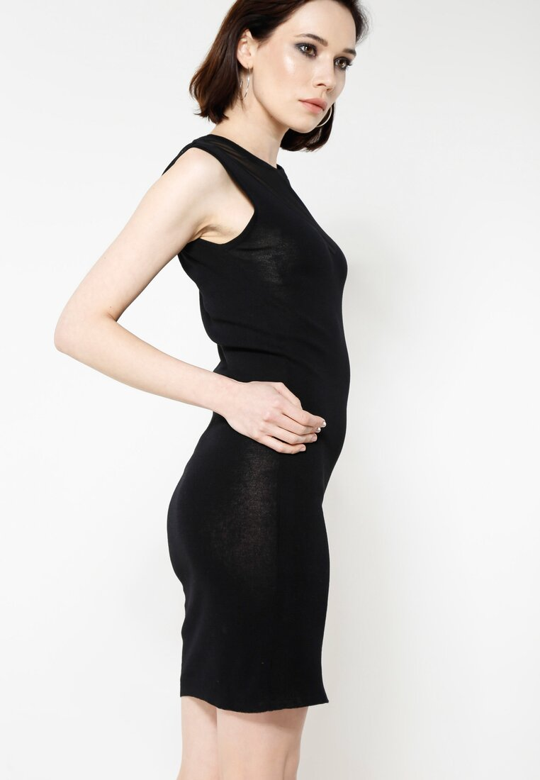 Czarna Sukienka Reticulate