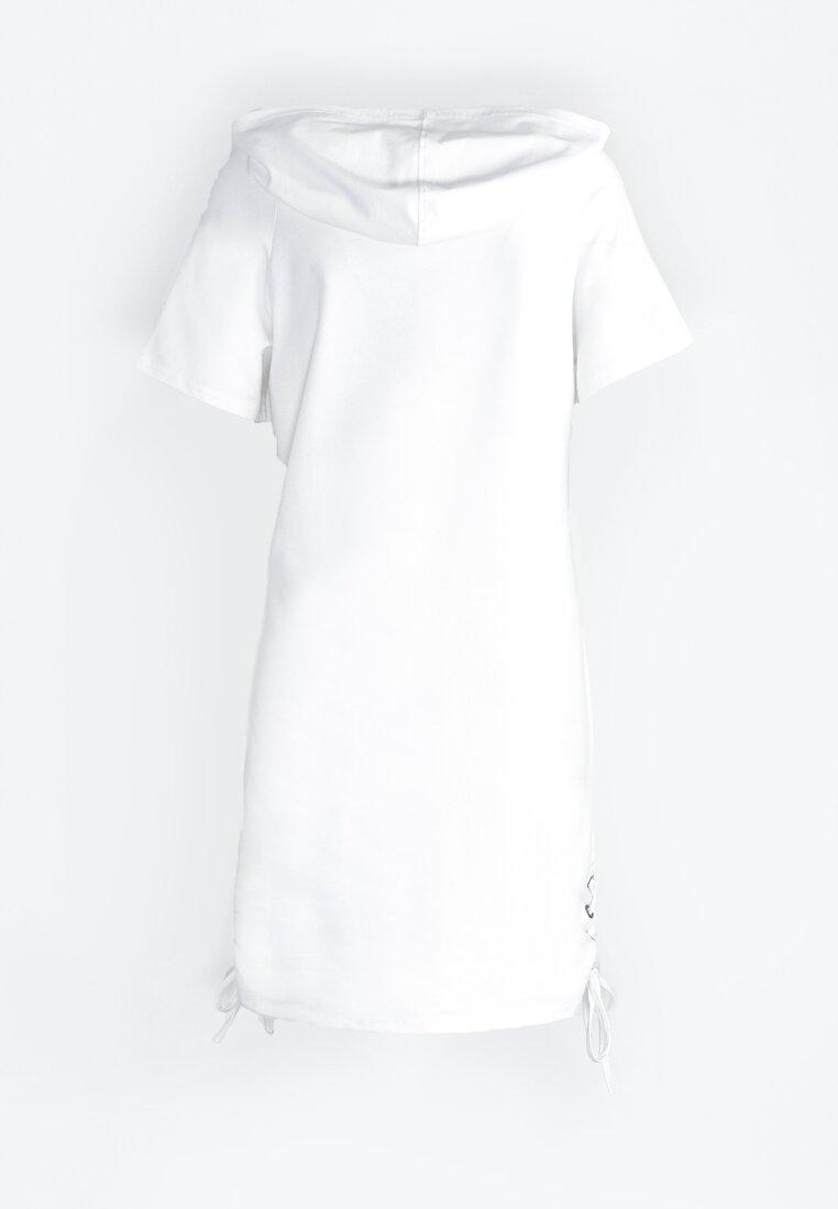 Biała Sukienka Sporty Look
