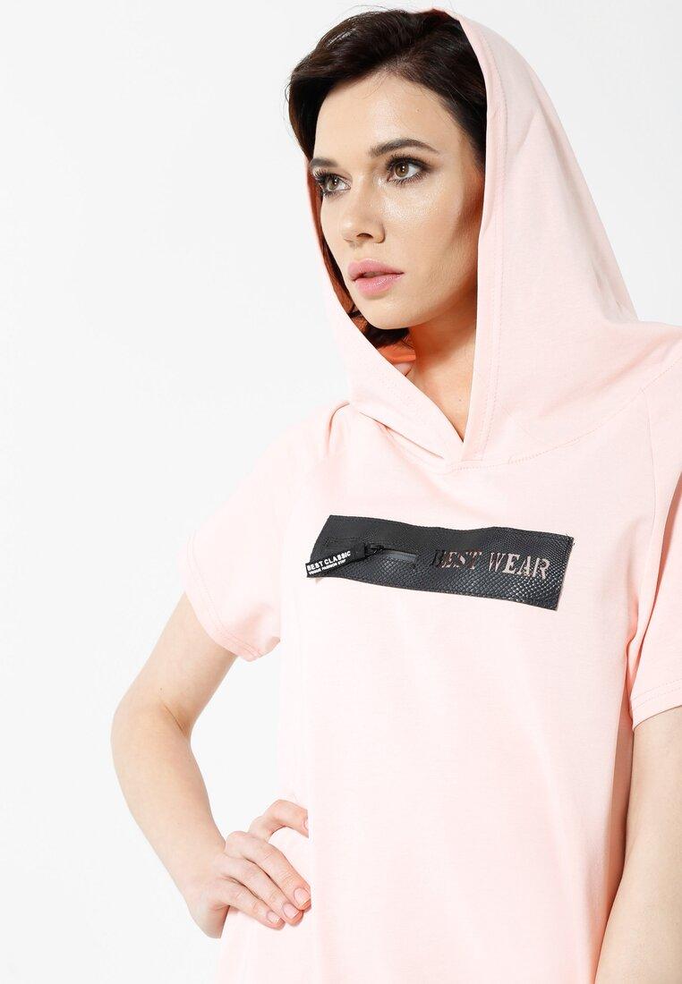 Różowa Sukienka Sporty Look