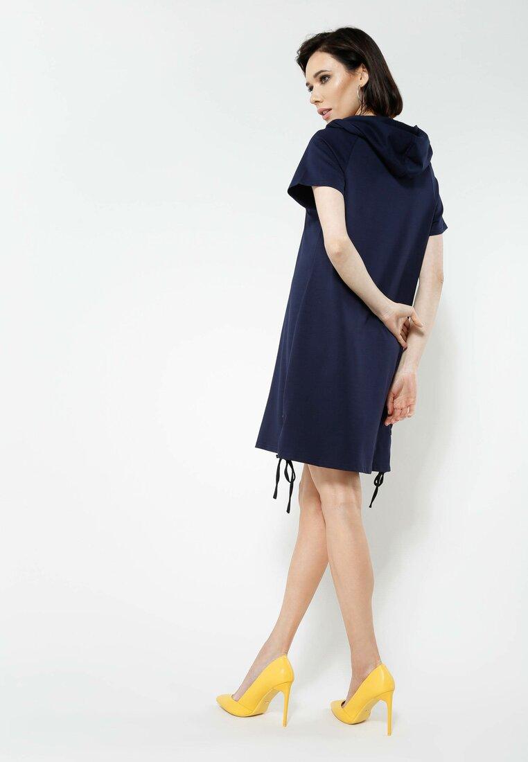 Granatowa Sukienka Sporty Look