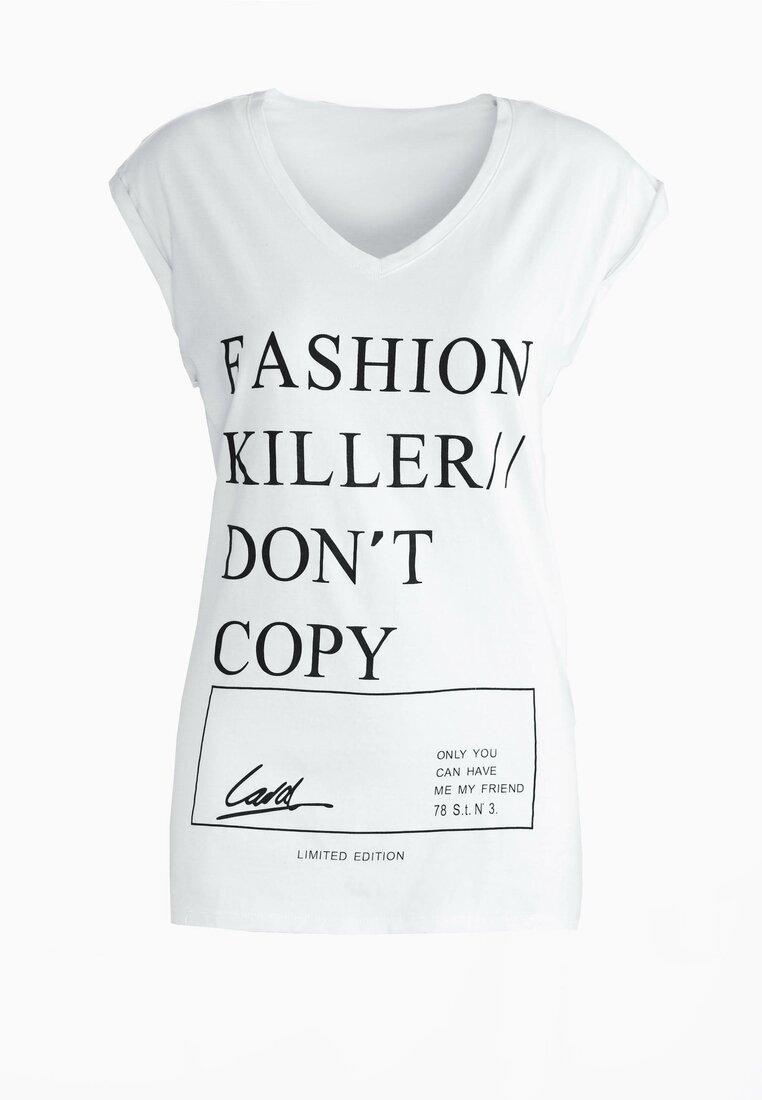 Biała Bluzka Do Not Copy