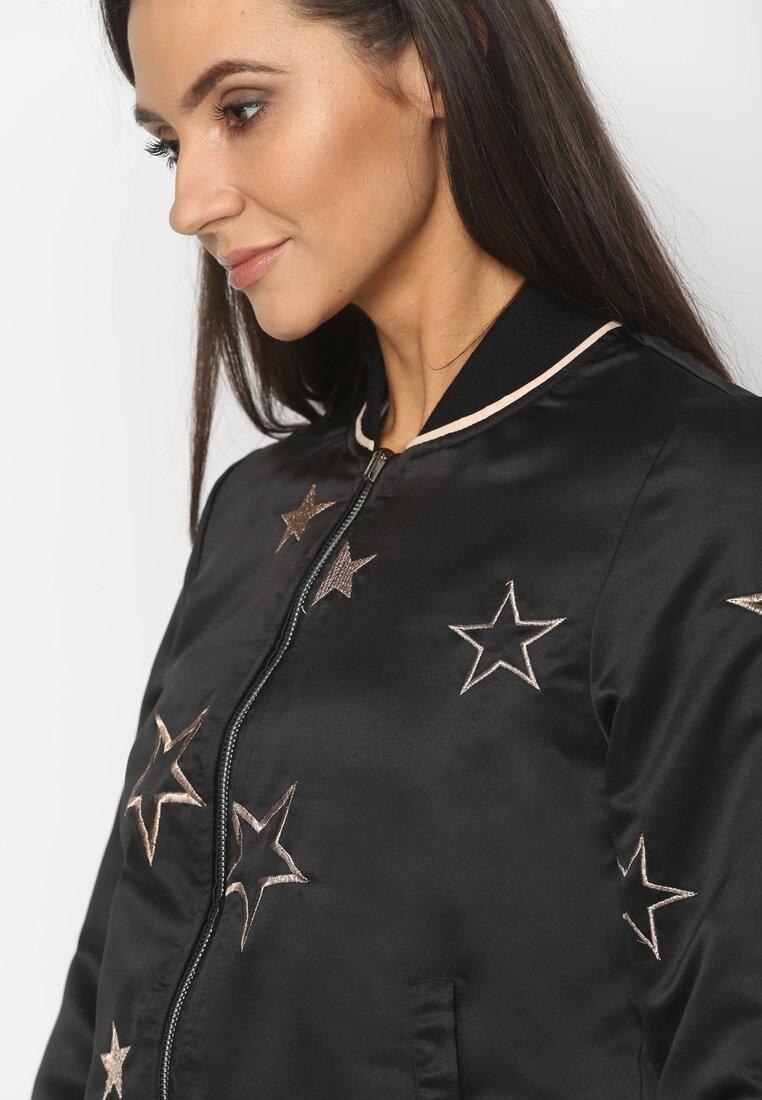 Czarna Bomberka Golden Stars