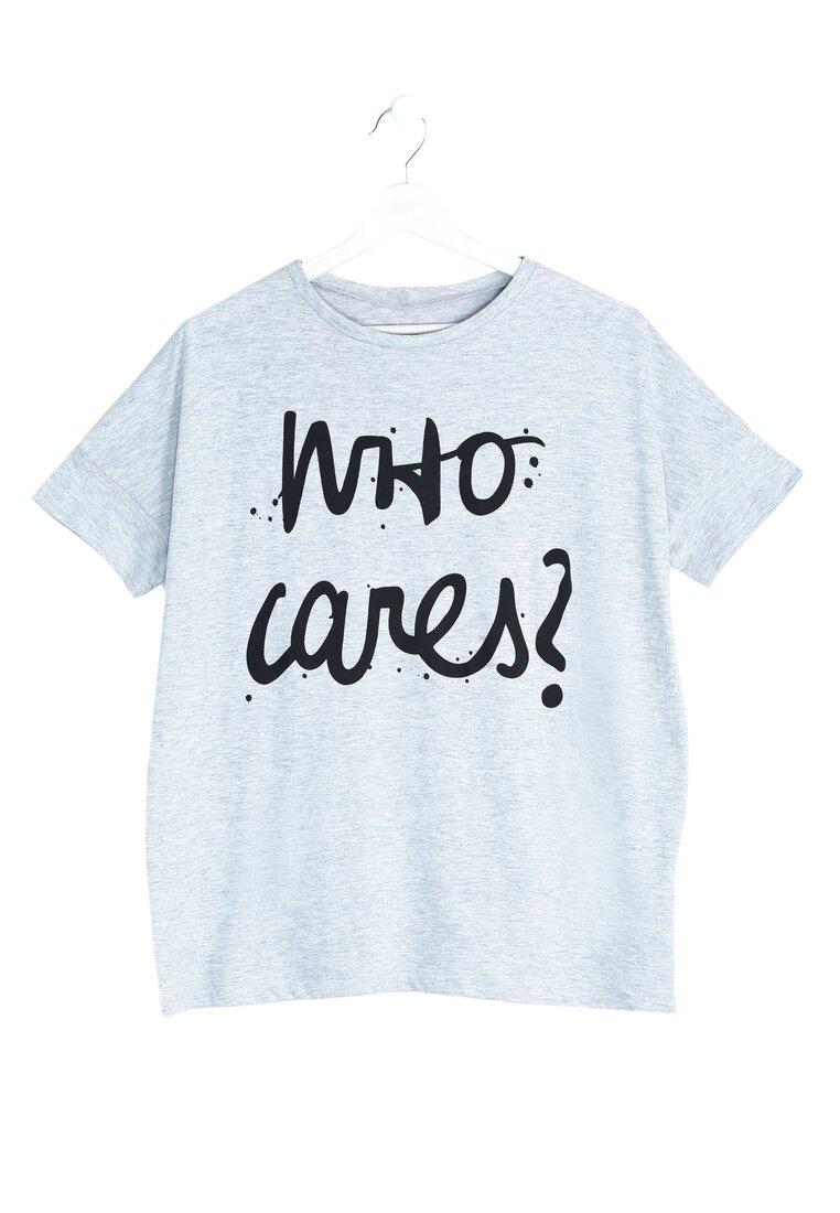 Szara Bluzka Who Cares