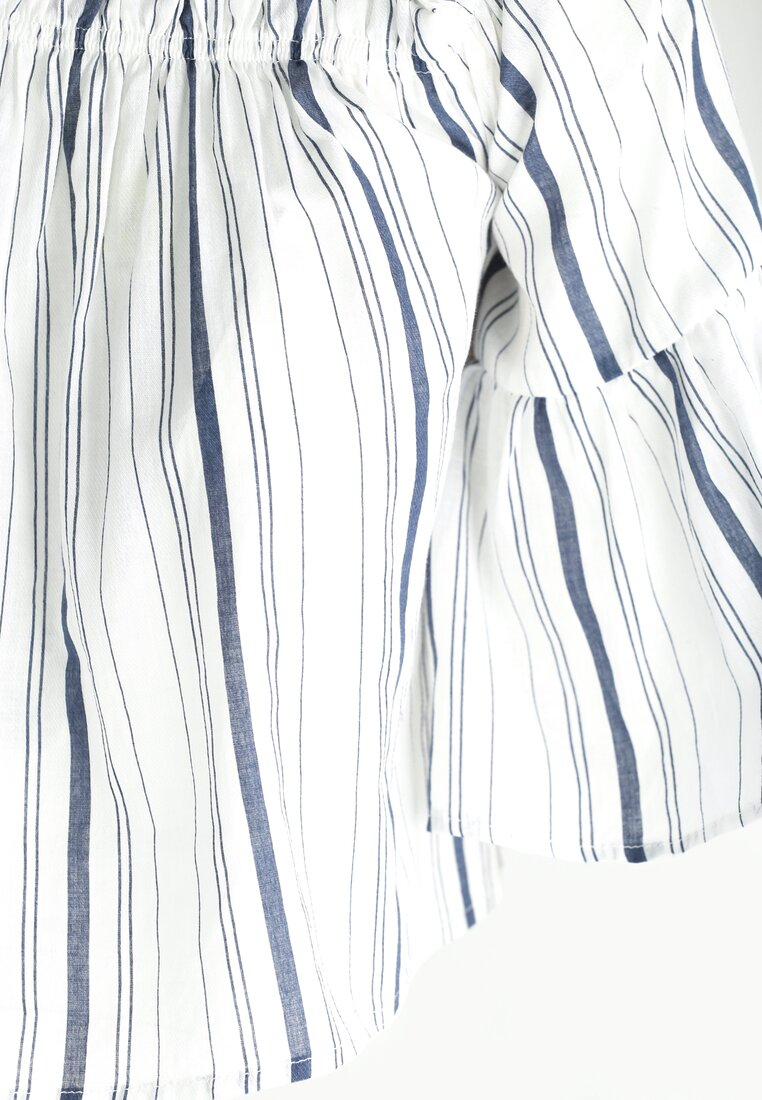 Biało-Granatowa Bluzka Fearlessly