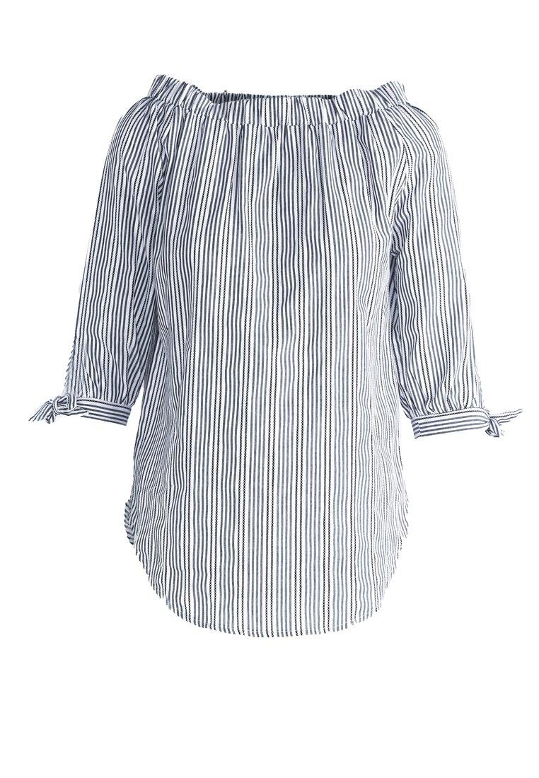 Czarna Bluzka Vertical Stripes