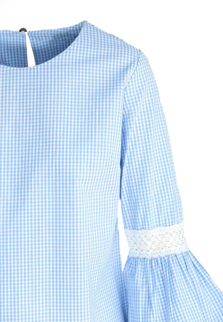 Niebieska Bluzka Historian Sleeves