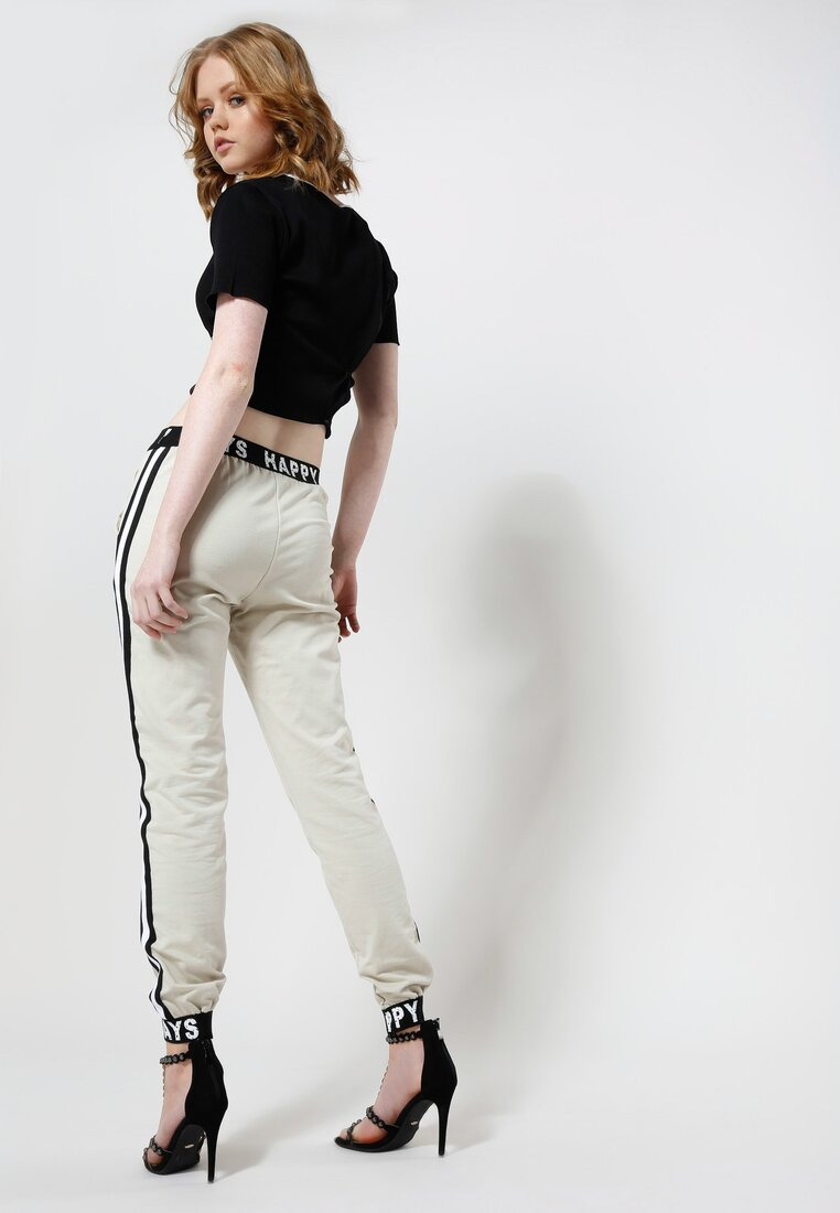 Beżowe Spodnie Make Me Run