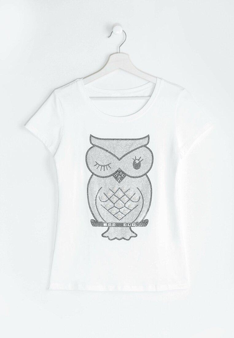 Biała Bluzka Blink Owl