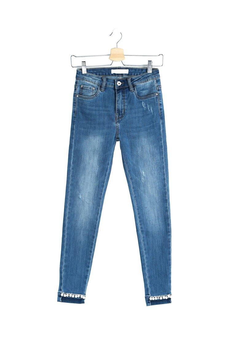 Niebieskie Jeansy Drappy