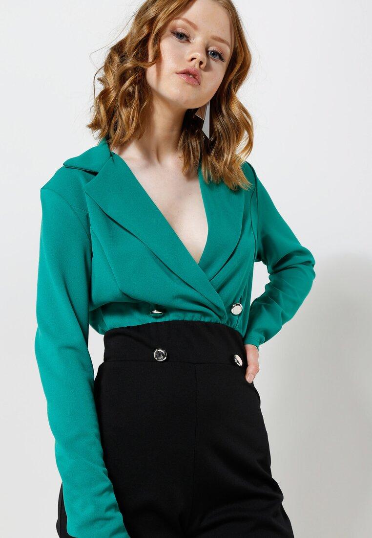 Zielono-Czarny Kombinezon Contrast