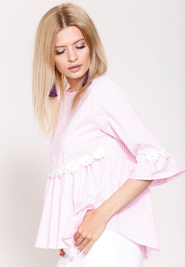 Różowa Bluzka Roll Over