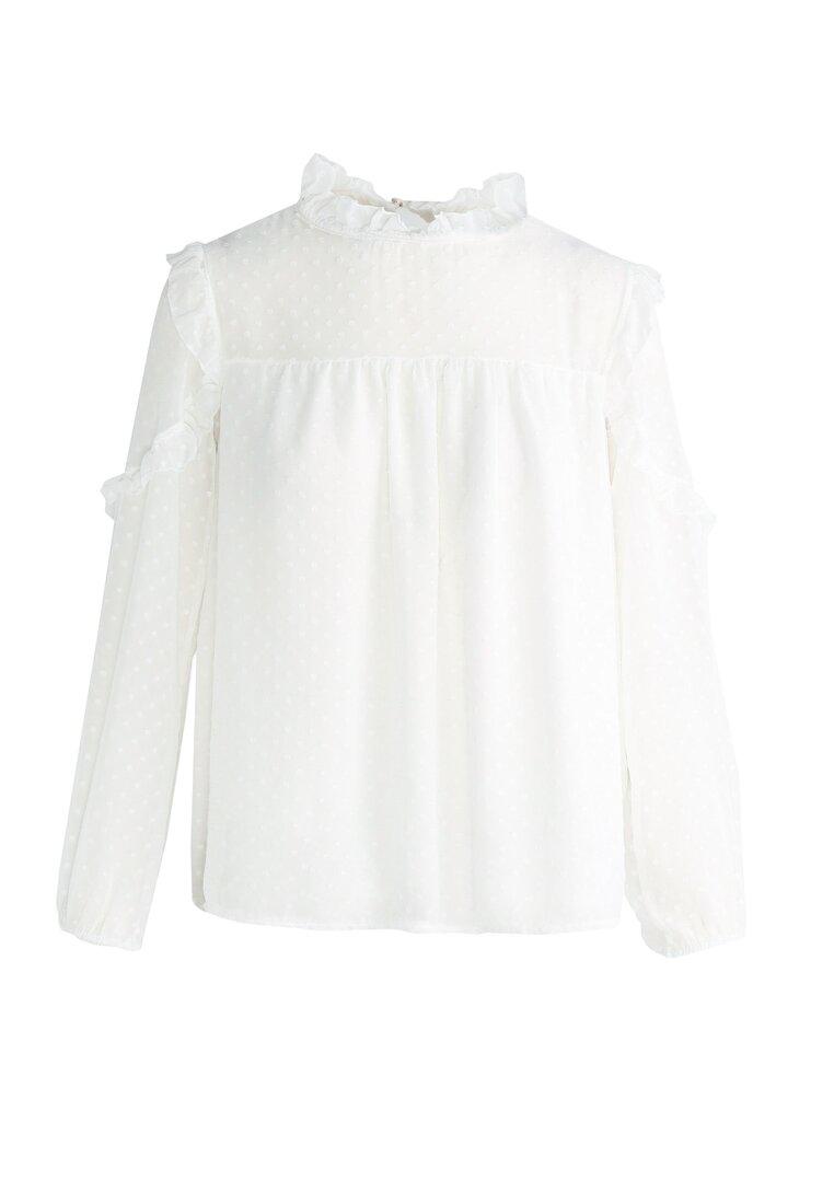 Biała Bluzka Victorian Poem