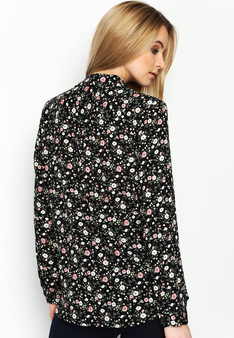 Czarno-Różowa Koszula Springfield