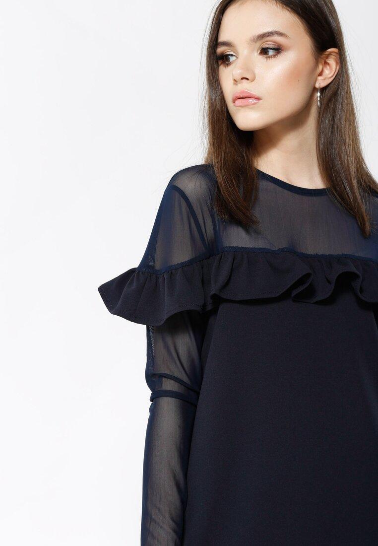Granatowa Sukienka Romantic Lady