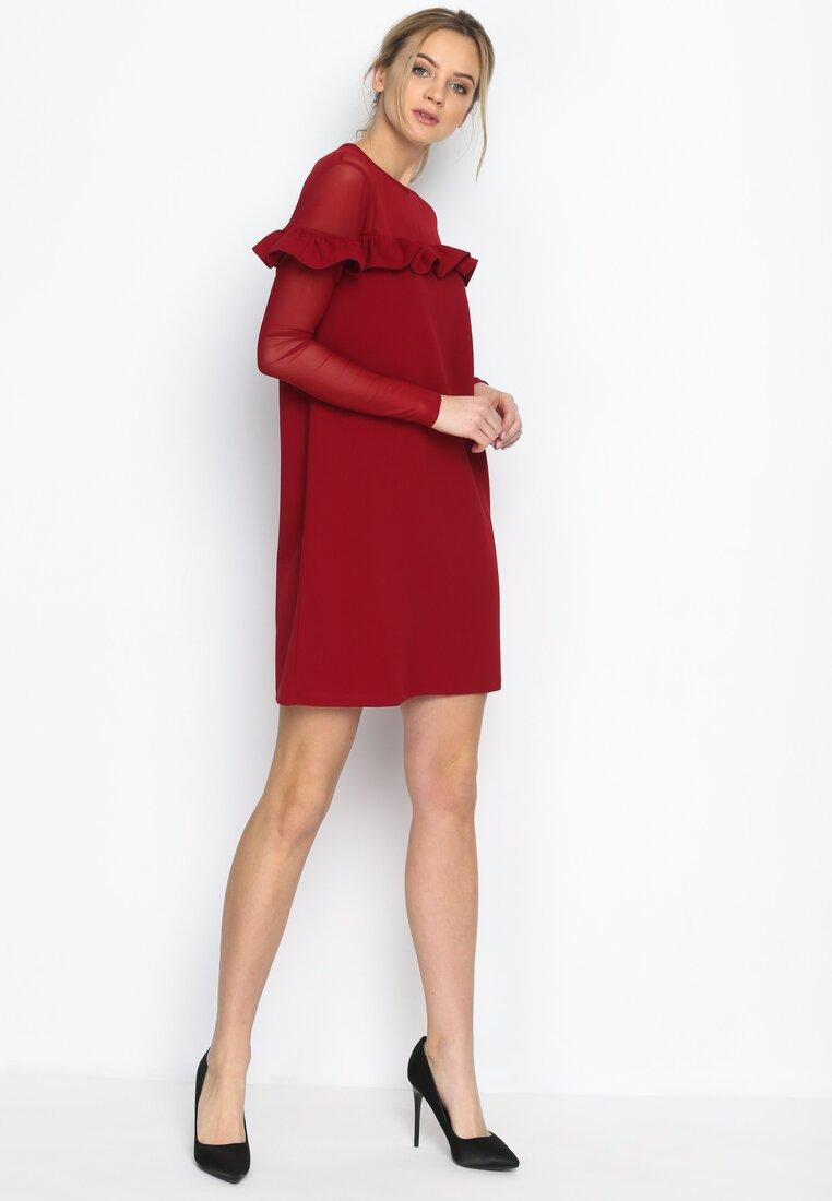 Czerwona Sukienka Romantic Lady
