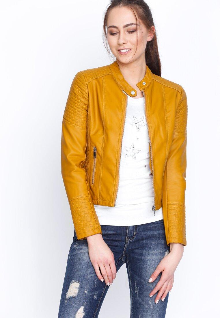 Żółta Ramoneska Biker Shoulder