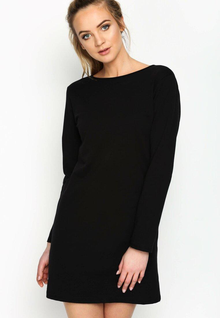 Czarna Sukienka Minnie Bow