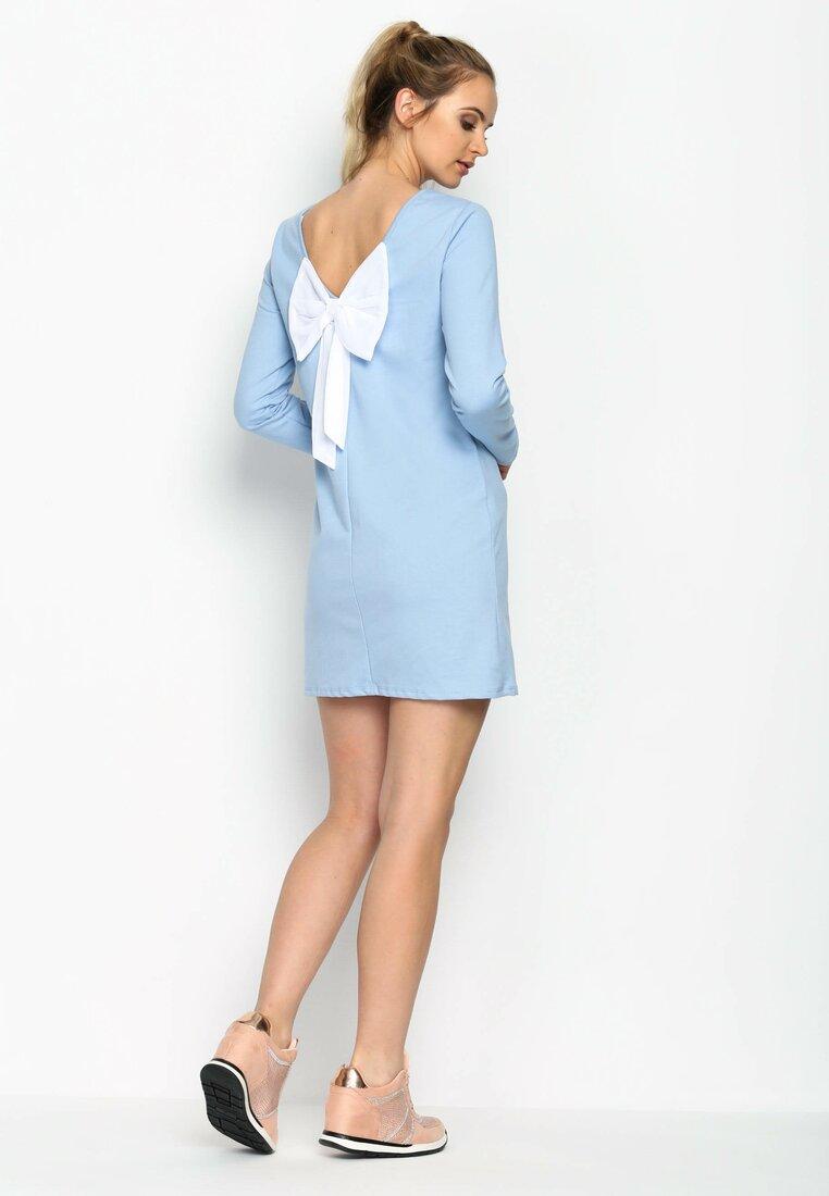 Niebieska Sukienka Minnie Bow
