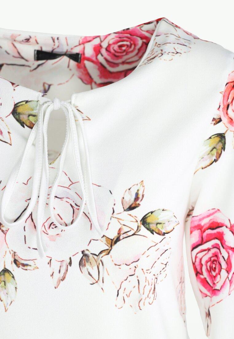 Biało-Czerwona Sukienka Baylor