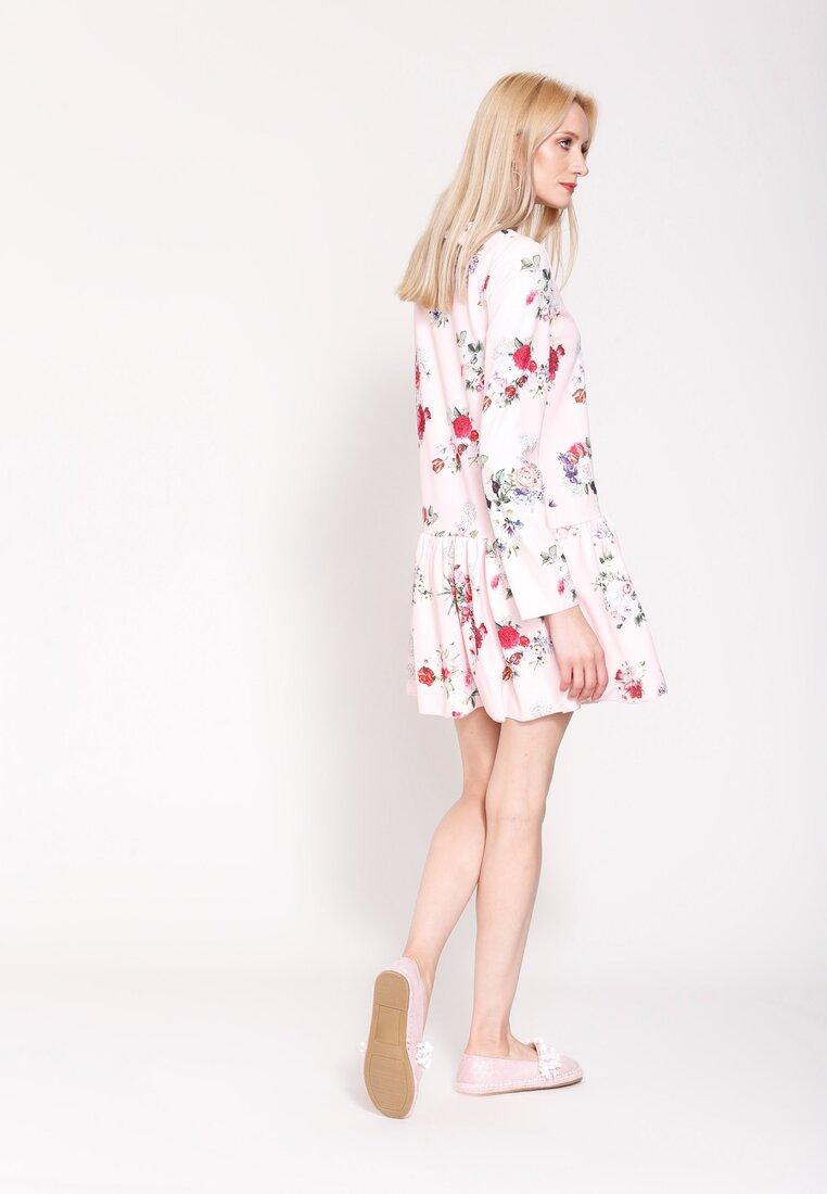 Różowo-Bordowa Sukienka Light Flash