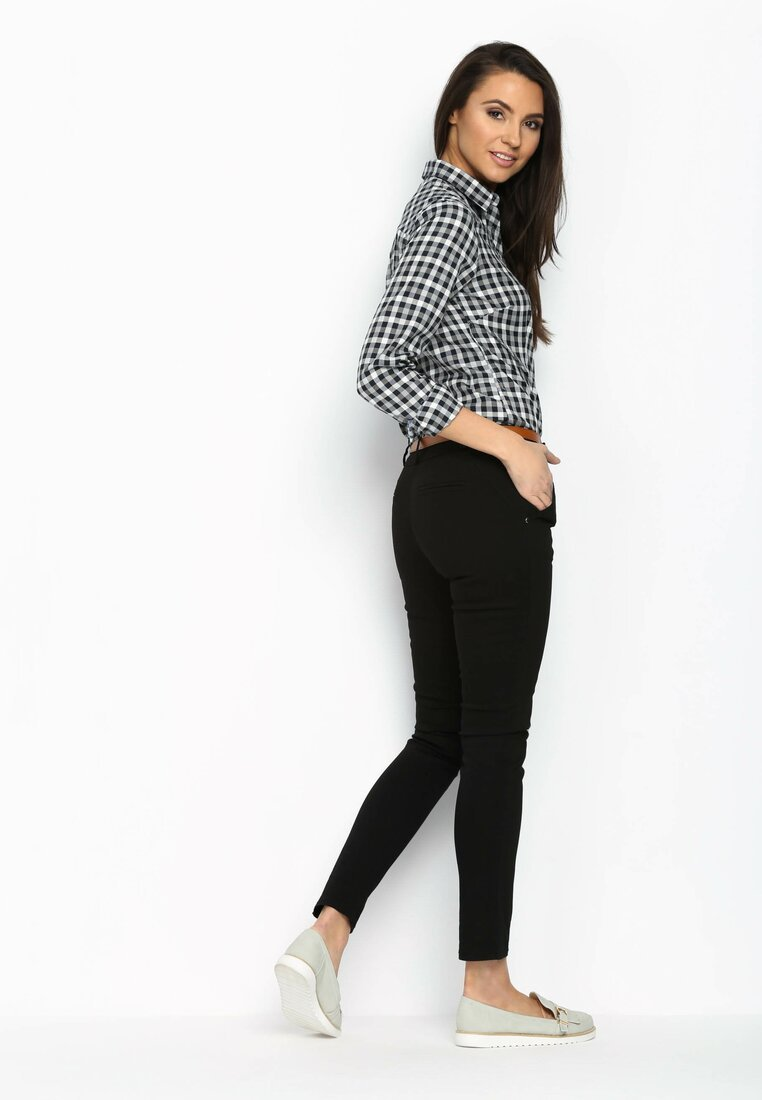 Czarne Spodnie Funny Advice