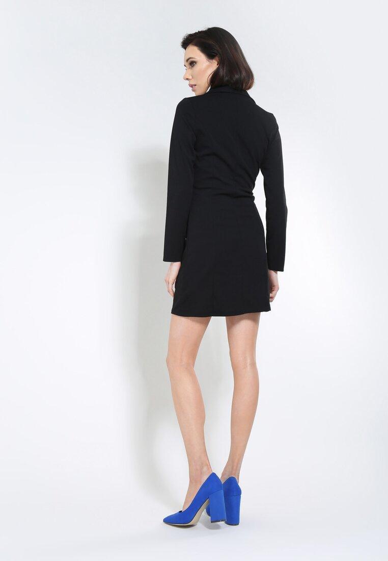 Czarna Sukienka Unclassic Tuxedo