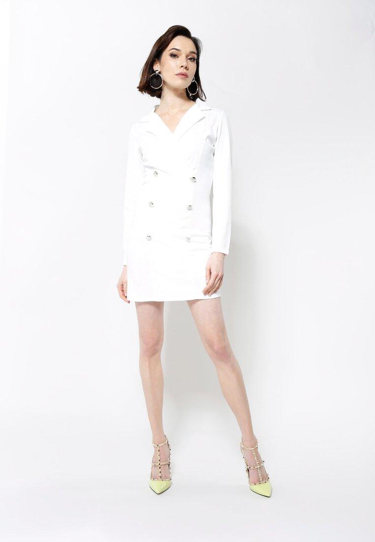 Biała Sukienka Unclassic Tuxedo
