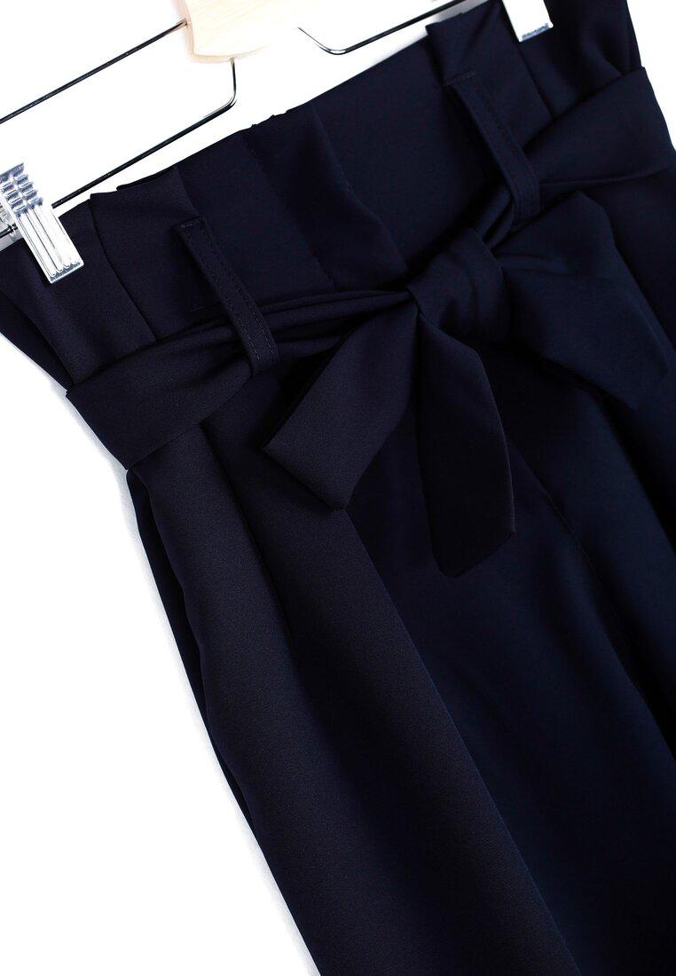 Granatowe Spodnie Ribbon Belt