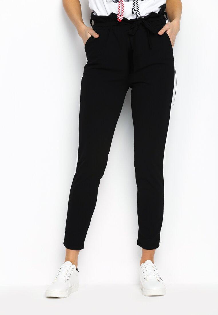 Czarno-Białe Spodnie Two Colors