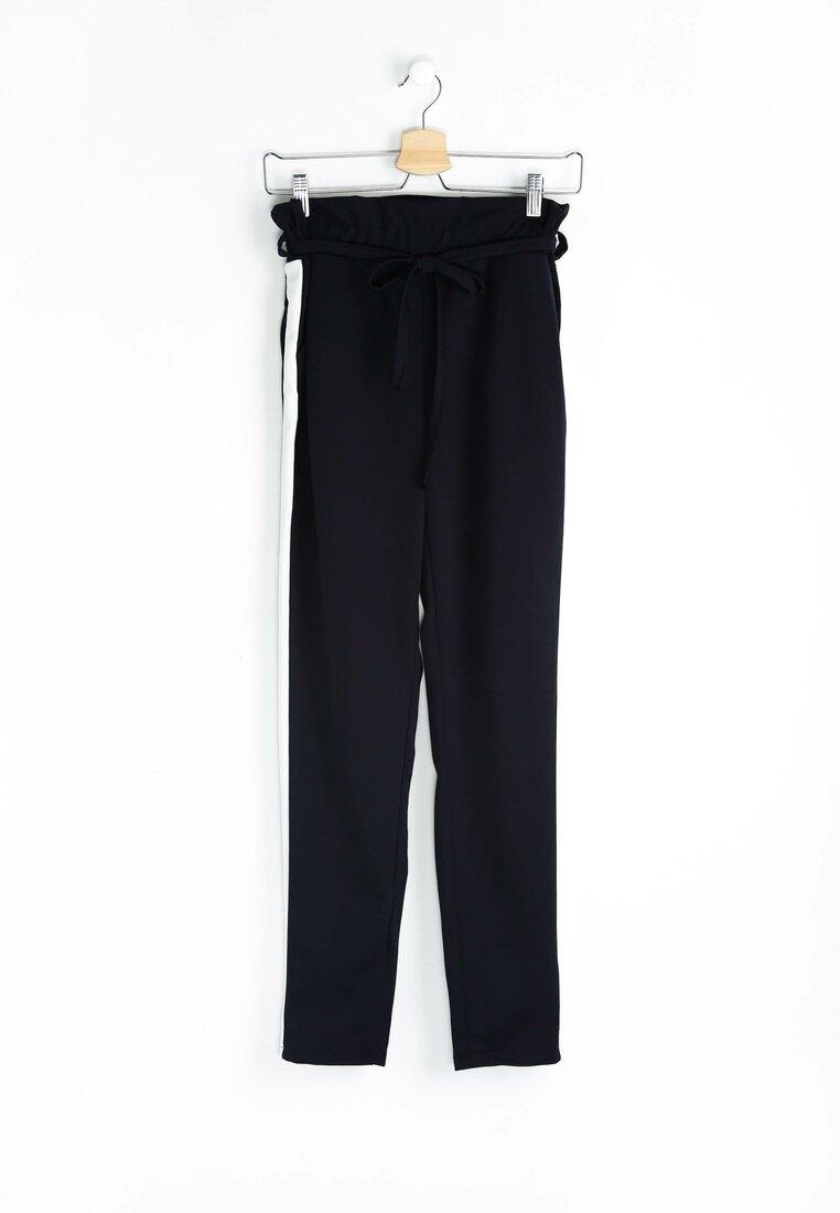 Granatowo-Białe Spodnie Two Colors