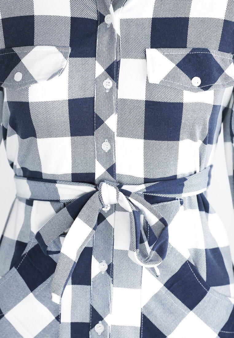 Granatowa Sukienka Simple Form