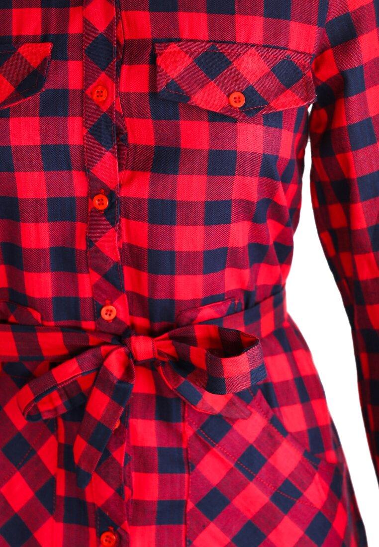 Czerwona Sukienka Squared Reality