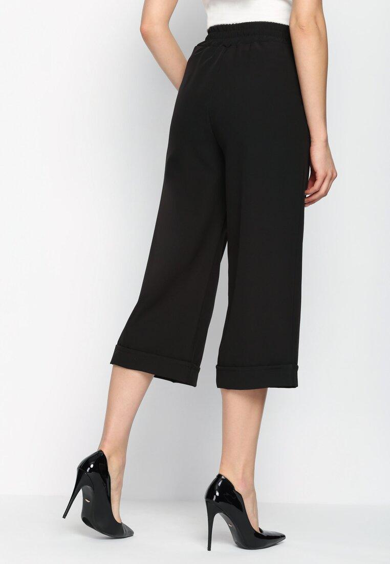Czarne Spodnie Kuloto Italiano