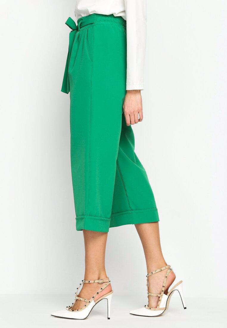 Zielone Spodnie Kuloto Italiano