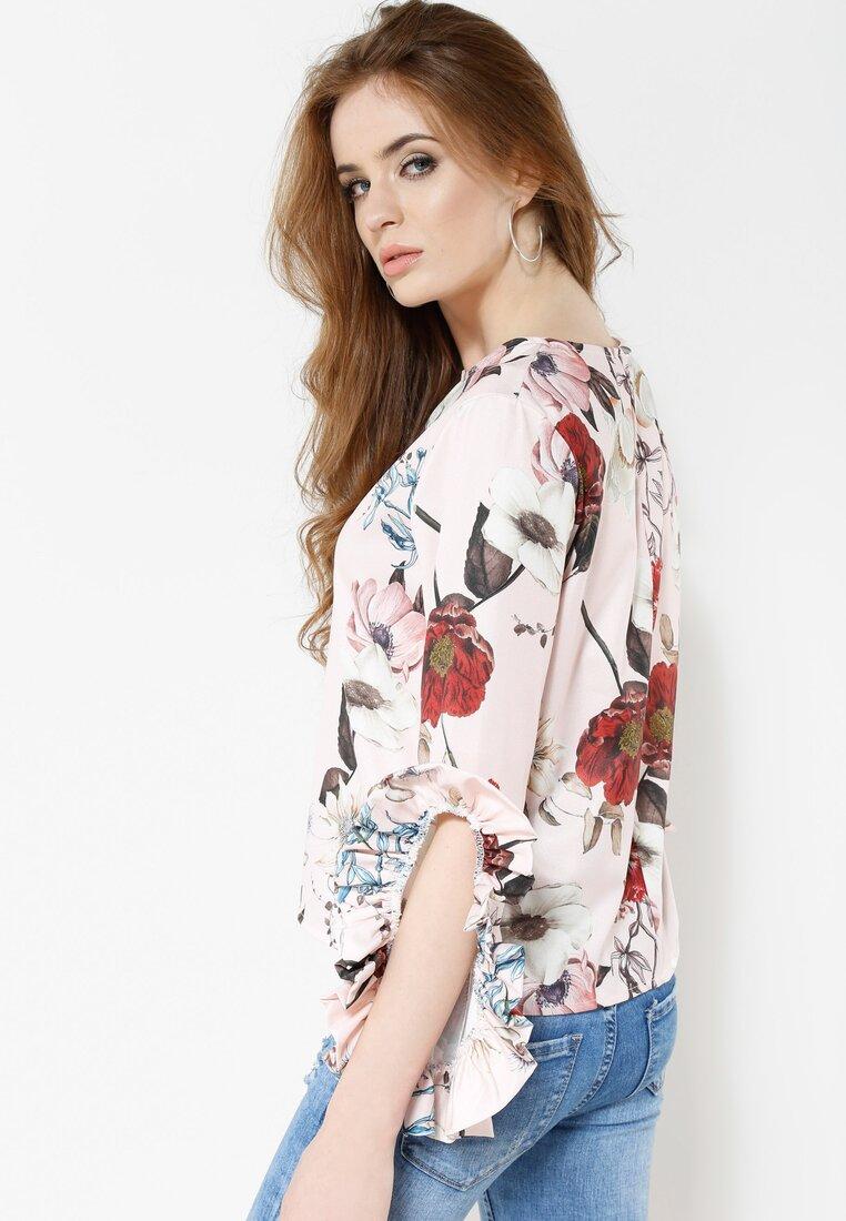 Różowo-Kremowa Bluzka Calyx