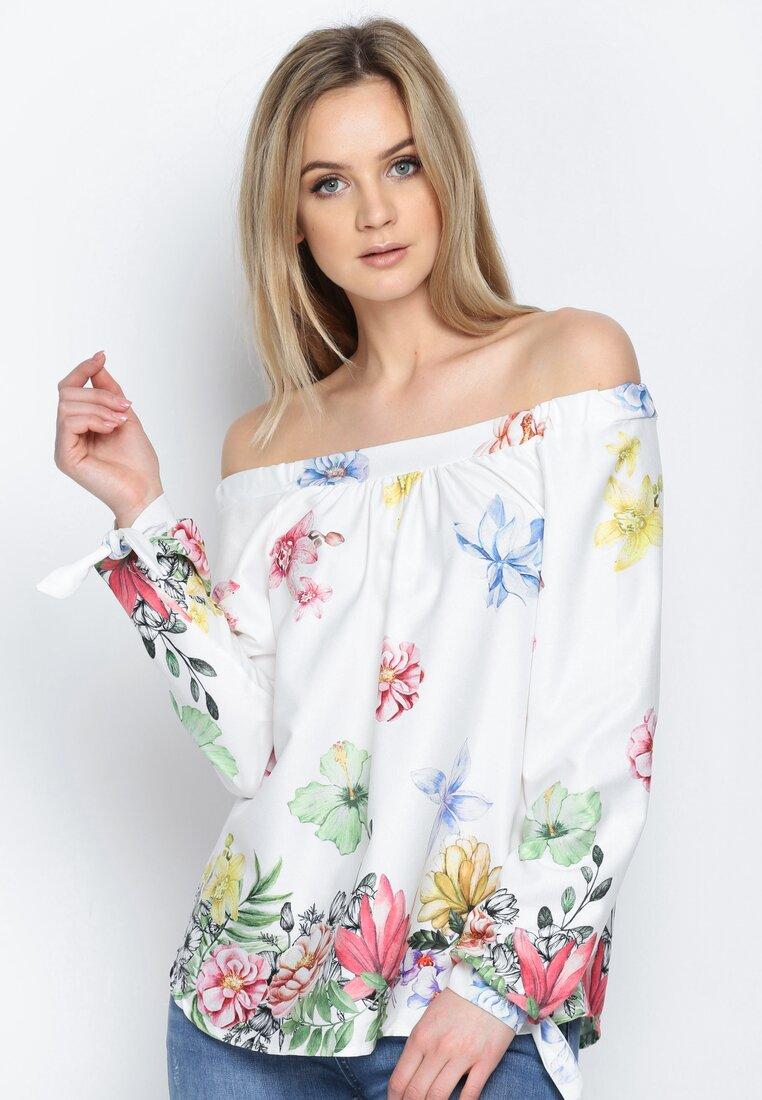 Biała Bluzka Flowery Meadow