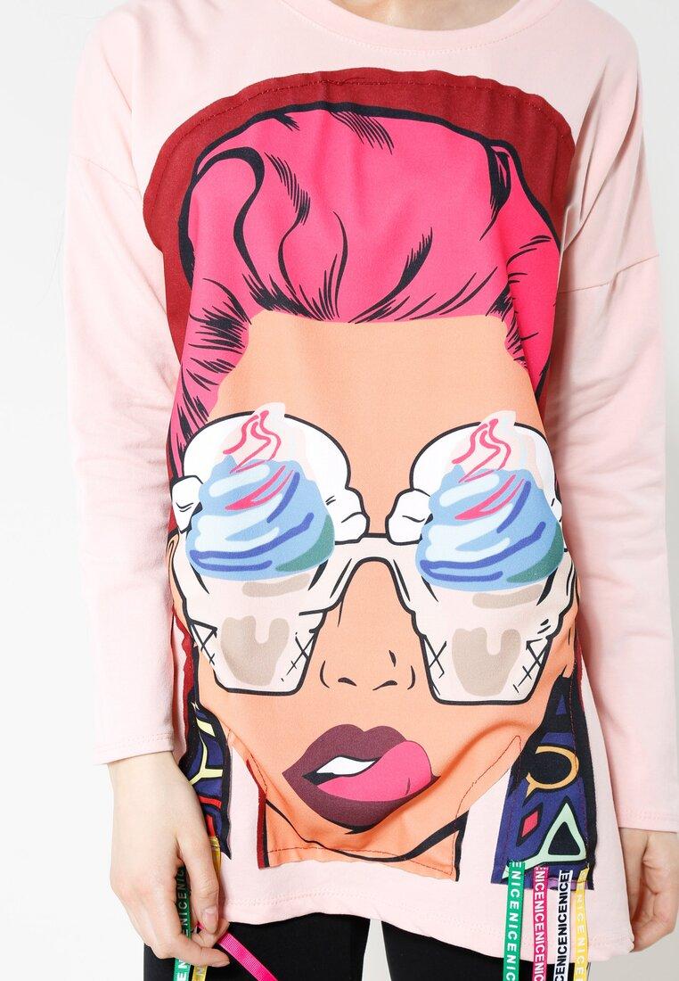 Różowa Bluza Brand New Face