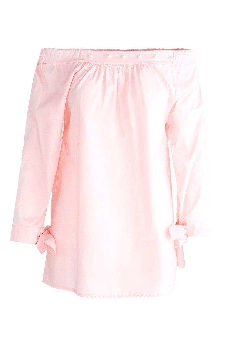 Różowa Bluzka Charming Cleavage