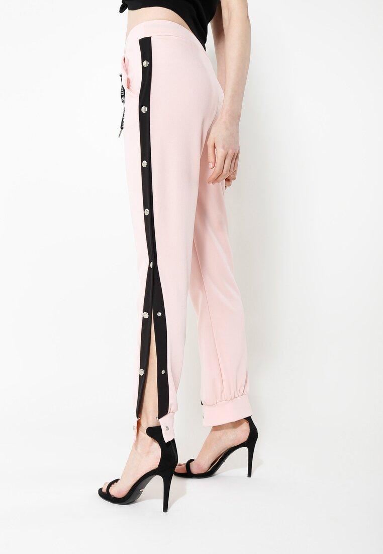 Różowe Spodnie Dresowe Long Way