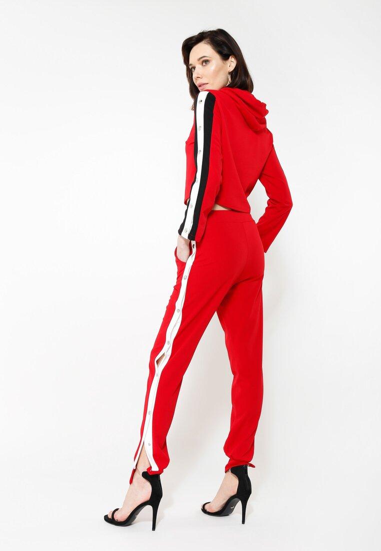 Czerwone Spodnie Dresowe Long Way