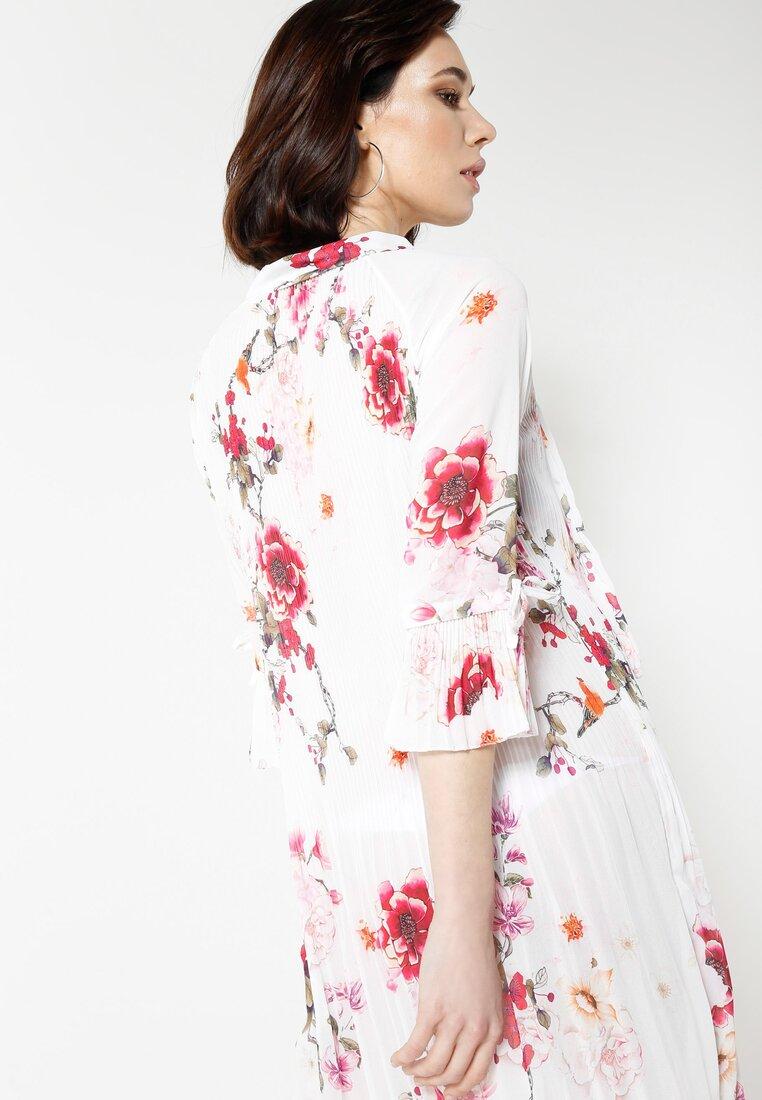 Biało-Różowa Sukienka Flower Deluxe